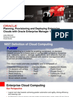 ORACLE EM12c Plan Provision and Deploy