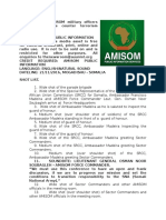 Senior AMISOM military officers meet to reassess counter terrorism strategy.
