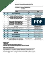 TEO 2 Cronograma de Avaliações 2015 1