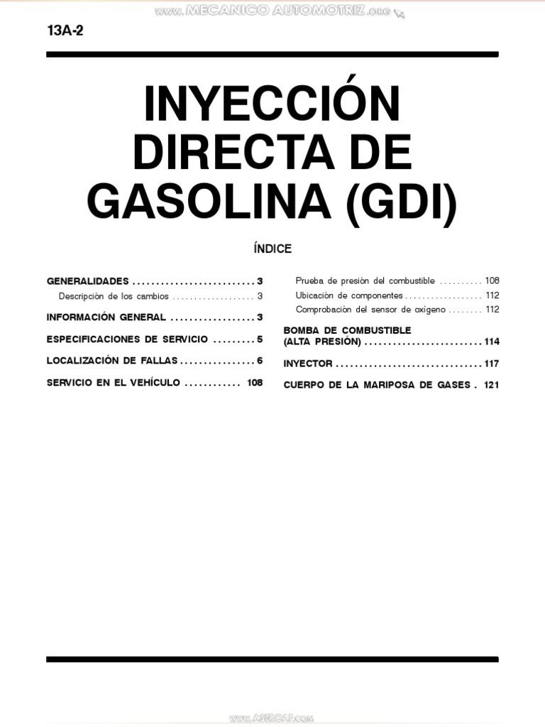 Manual Inyeccion Directa Gasolina Gdi Mitsubishi