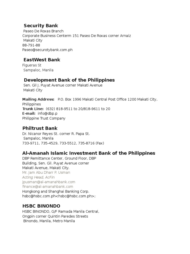 Directory Banks