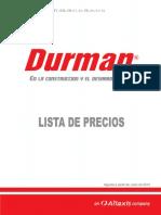 Listado Precios Durman 06-2014 Completo