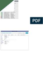 Printscreens Dicionário de Dados