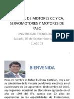 Motores CA CD Servomotores y Motores de Paso