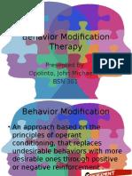 Behavior Modification Therapy