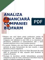 Analiza Financiara Biofarm Prezentare