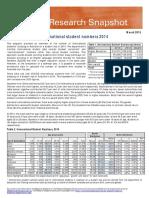 International Student Numbers 2014
