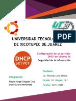 Manual de Configuracion de DHCP