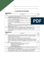 Correction Examen 1