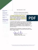 Notice of Caucus to fill vacancy