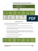 Instructions on How to Create a Declining balance Depreciation Schedule