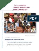 [DEUTSCH] Adventbrief 2016 – Vinzentinischen Familie