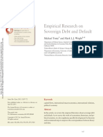 2013 Empirical Research on Sovereign Debt and Default