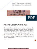 Factores Que Modifican El Metabolismo Basal