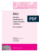 DILI -Diploma Intermedio Lingua Italiana