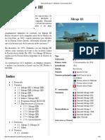 Dassault Mirage III - Wikipedia, La Enciclopedia Libre