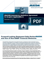 2016-11-21 MACOM-AppliedMicro Acquisition Conference Call Presentation