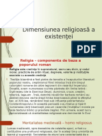 Dimensiunea Religioasă a Existenţei