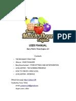 Berry match 3 manual -Unity Asset