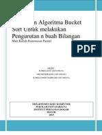 Algoritma Bucket sort