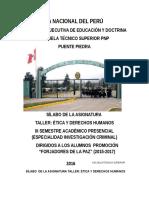 Sílabus de Etica y Dd.hh. III Semestre (Forjadores de La Paz - Op) 2015-2017 i