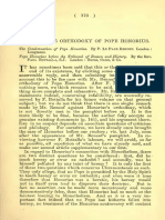 The Orthodoxy of Pope Honorius