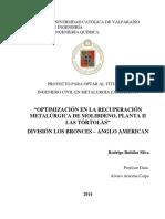 Optimizacion recuperacion metalurgica de molibdeno.pdf