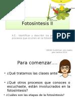 Fotosístesis II