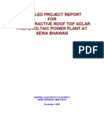 Detailed Project Report Solar Pv
