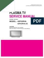 Tv Plasma Lg 42px3rva 42px3rva Zc Chassis Mf 056c