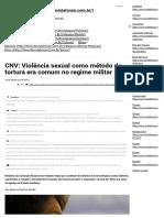 CNV_ Violência Sexual Como Método de Tortura Era Comum No Regime Militar - Portal Fórum