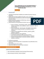 Temario_seminario de Fajas Transportadoras y Sistema de Transmision de Potencia