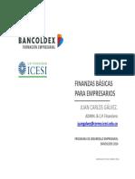 Taller de Finanzas Básicas Para Empresarios - Juan Carlos Galvéz