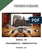 2016 Manual de Procedimentos Administrativos