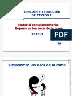 3A-ZZ03 Usos de La Coma -Autoaprendizaje- 2016-3 38143
