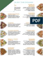 Sweetcatch Poke menu