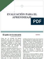 Ppt Evaluación Para El Aprendizaje (1)