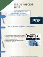 Analisis de Precios Ultimo Unitarios