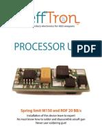 Manual Processor Unit