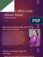 Women Who Lied About Rape1