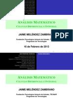 Exposición de Contenidos Programáticos de Cálculo Diferencial e Integral