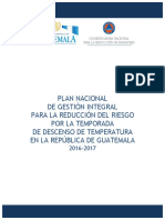 Plan Nacional Temporada Descenso de Temperatura 2016