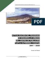 Programa Desarrollo Urbano Tuxtla 2001, Abreviado