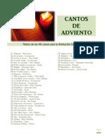 Lista 40 Cantos Adviento - 2014