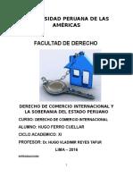 Derecho de Comercio Internacional y La Soberania Del Estado Peruano