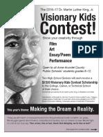 2016 mlk visionary contest flyer