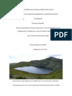 Deterioro Generalizado de Fuentes de Agua Dulce y Cuencas Hidrográficas en El Departamento de Cajamarca Por Causa de La Minera Yanacocha