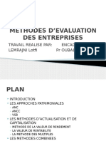 Methodes d Evaluation Des Entreprises