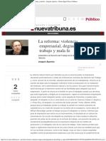 La Reforma_ Violencia Empresarial, Degradación Del Trabajo y Mala Fe - Joaquín A