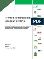 Naskahrevisi Peta Jalan Reformasi Tenurial Hutan Final 09112011